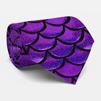 Falln Purple & Blue Mermaid Scales Neck Tie