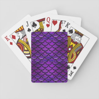 Falln Purple & Blue Mermaid Scales Playing Cards