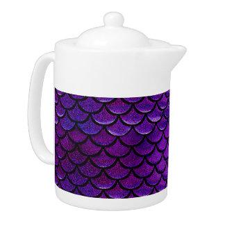 Falln Purple & Blue Mermaid Scales Teapot