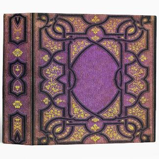 Falln Purple & Gold Vines Book Cover Binder
