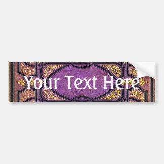 Falln Purple & Gold Vines Book Cover Bumper Sticker