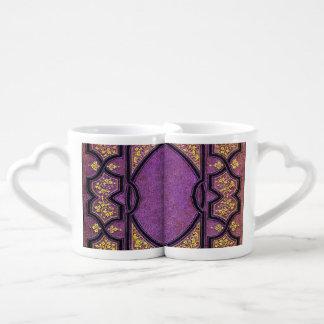 Falln Purple & Gold Vines Book Cover Coffee Mug Set