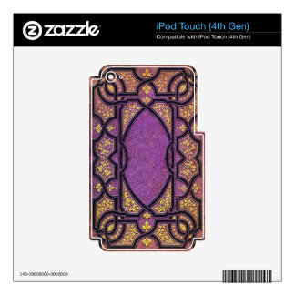 Falln Purple & Gold Vines Book Cover Decals For iPod Touch 4G