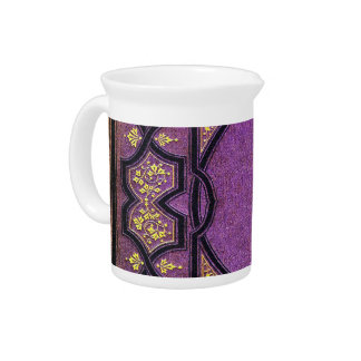 Falln Purple & Gold Vines Book Cover Drink Pitchers