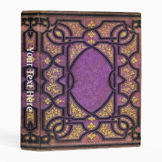 Falln Purple & Gold Vines Book Cover Mini Binder