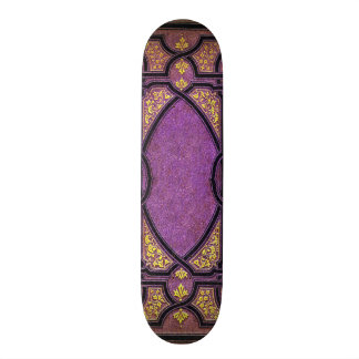Falln Purple & Gold Vines Book Cover Skateboard Deck