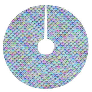 Falln Rainbow Bubble Mermaid Scales Brushed Polyester Tree Skirt