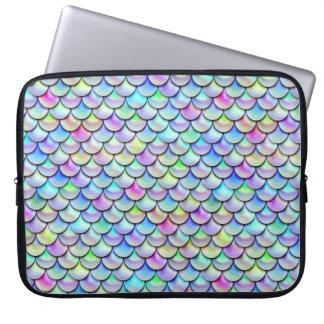 Falln Rainbow Bubble Mermaid Scales Computer Sleeve