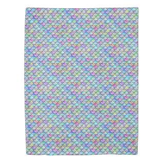 Falln Rainbow Bubble Mermaid Scales Duvet Cover at Zazzle