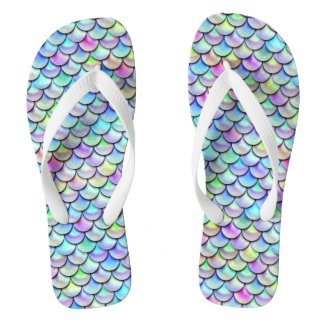 Falln Rainbow Bubble Mermaid Scales Flip Flops