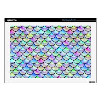 Falln Rainbow Bubble Mermaid Scales Laptop Skins