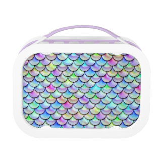 Falln Rainbow Bubble Mermaid Scales Lunch Box at Zazzle