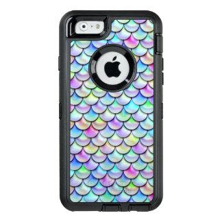 Falln Rainbow Bubble Mermaid Scales OtterBox Defender iPhone Case