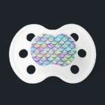 """Falln Rainbow Bubble Mermaid Scales Pacifier<br><div class=""""desc"""">Perfect for any mermaid,  merman,  dragon,  or serpent!  Click &#39;Customize&#39; to add your own personalized text.</div>"""