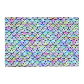 Falln Rainbow Bubble Mermaid Scales Placemat