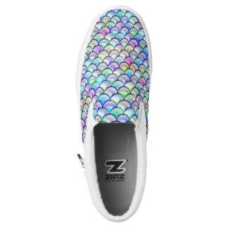 Falln Rainbow Bubble Mermaid Scales Slip-On Sneakers
