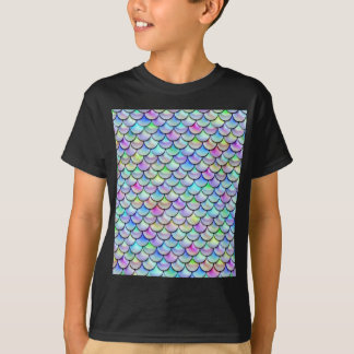 Falln Rainbow Bubble Mermaid Scales T-Shirt