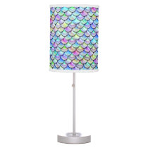 Falln Rainbow Bubble Mermaid Scales Table Lamp