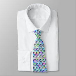 Falln Rainbow Bubble Mermaid Scales Tie