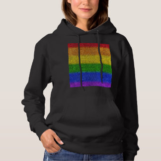 Falln Rainbow Glitter Gradient Hoodie