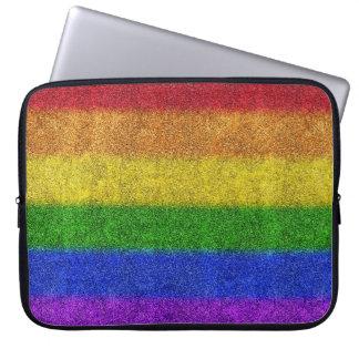 Falln Rainbow Glitter Gradient Laptop Computer Sleeve