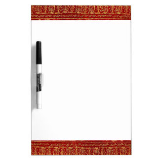Falln Red And Gilded Gold Book Dry Erase Board