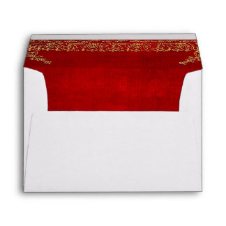 Falln Red And Gilded Gold Book Envelope