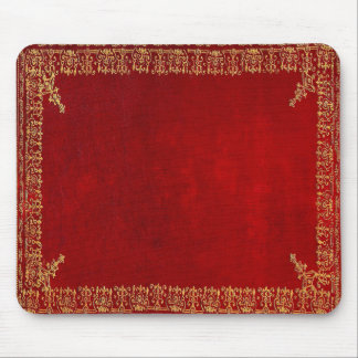 Falln Red And Gilded Gold Book Mouse Pad