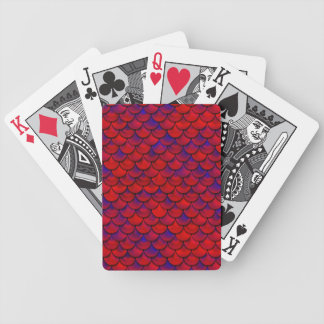 Falln Red and Purple Scales Bicycle Playing Cards