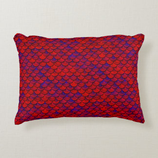Falln Red and Purple Scales Decorative Pillow