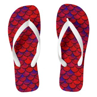 Falln Red and Purple Scales Flip Flops