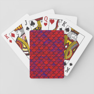 Falln Red and Purple Scales Playing Cards