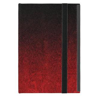 Falln Red & Black Glitter Gradient Case For iPad Mini