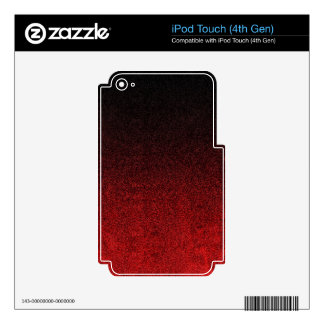 Falln Red & Black Glitter Gradient Decal For iPod Touch 4G