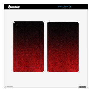 Falln Red & Black Glitter Gradient Decal For Kindle Fire