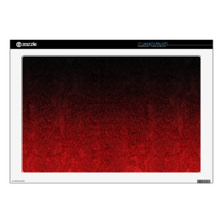 Falln Red & Black Glitter Gradient Decal For Laptop