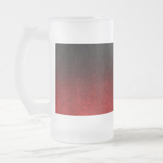 Falln Red & Black Glitter Gradient Frosted Glass Beer Mug
