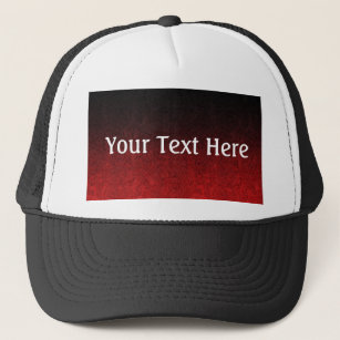 5e48d5f7e96 Falln Red   Black Glitter Gradient Trucker Hat