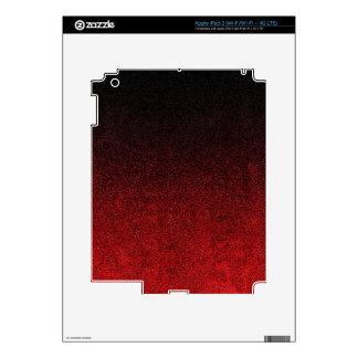 Falln Red & Black Glitter Gradient iPad 3 Decal