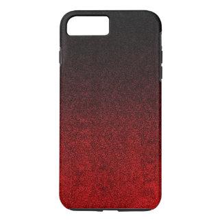 Falln Red & Black Glitter Gradient iPhone 8 Plus/7 Plus Case