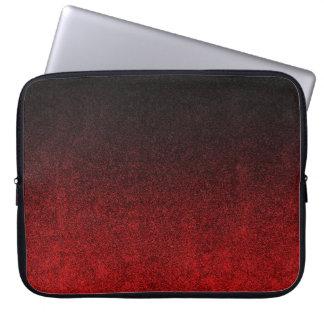 Falln Red & Black Glitter Gradient Laptop Sleeve