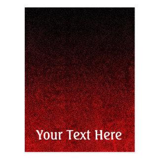 Falln Red & Black Glitter Gradient Postcard