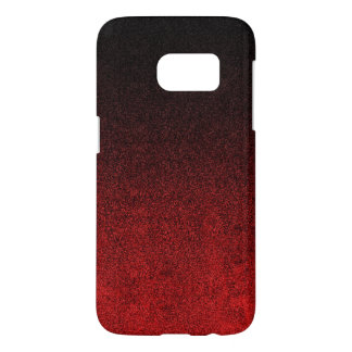Falln Red & Black Glitter Gradient Samsung Galaxy S7 Case