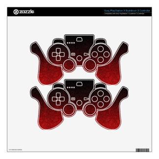 Falln Red & Black Glitter Gradient Skin For PS3 Controller