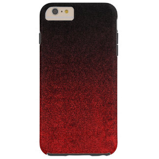 Falln Red & Black Glitter Gradient Tough iPhone 6 Plus Case