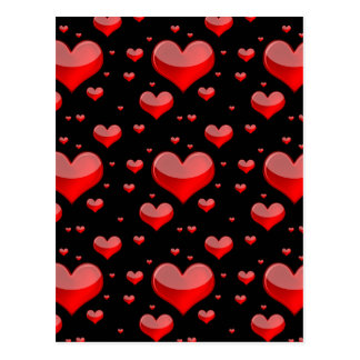 Falln Red Hearts (You Choose Background Color!) Postcard
