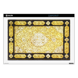 Falln Sacred Gold Book Decal For Laptop
