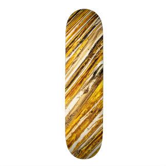Falln Shimmering Gold Foil Skateboard