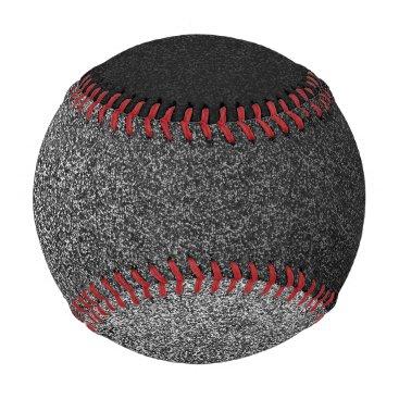 Halloween Themed Falln Silver & Black Glitter Gradient Baseball