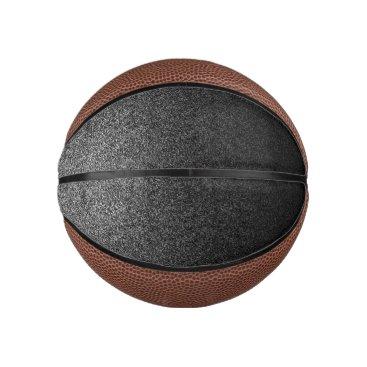 Halloween Themed Falln Silver & Black Glitter Gradient Basketball